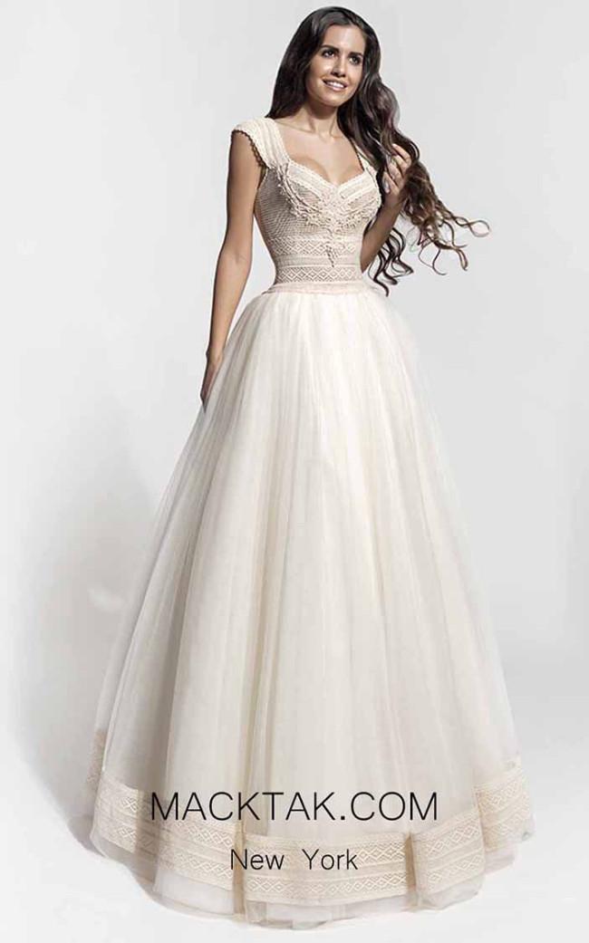 Zolotas Atelier Carme Front Evening Dress