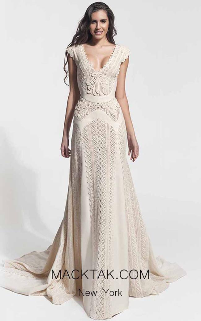 Zolotas Atelier Cassiopeia Front Evening Dress