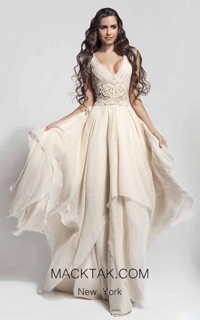 Zolotas Atelier Cloe Front Evening Dress