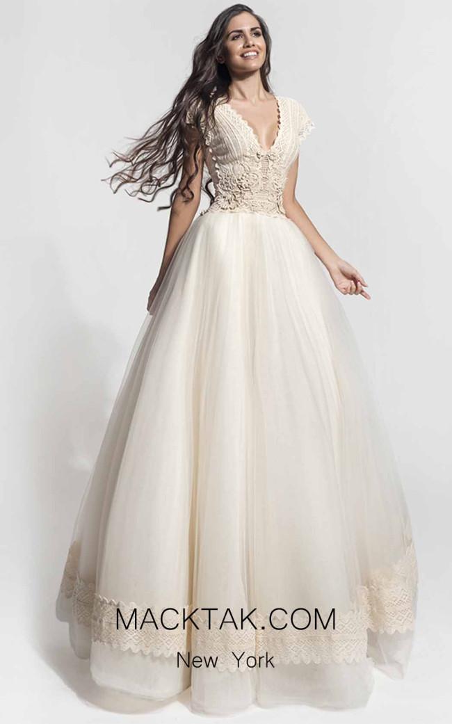 Zolotas Atelier Isida Front Evening Dress