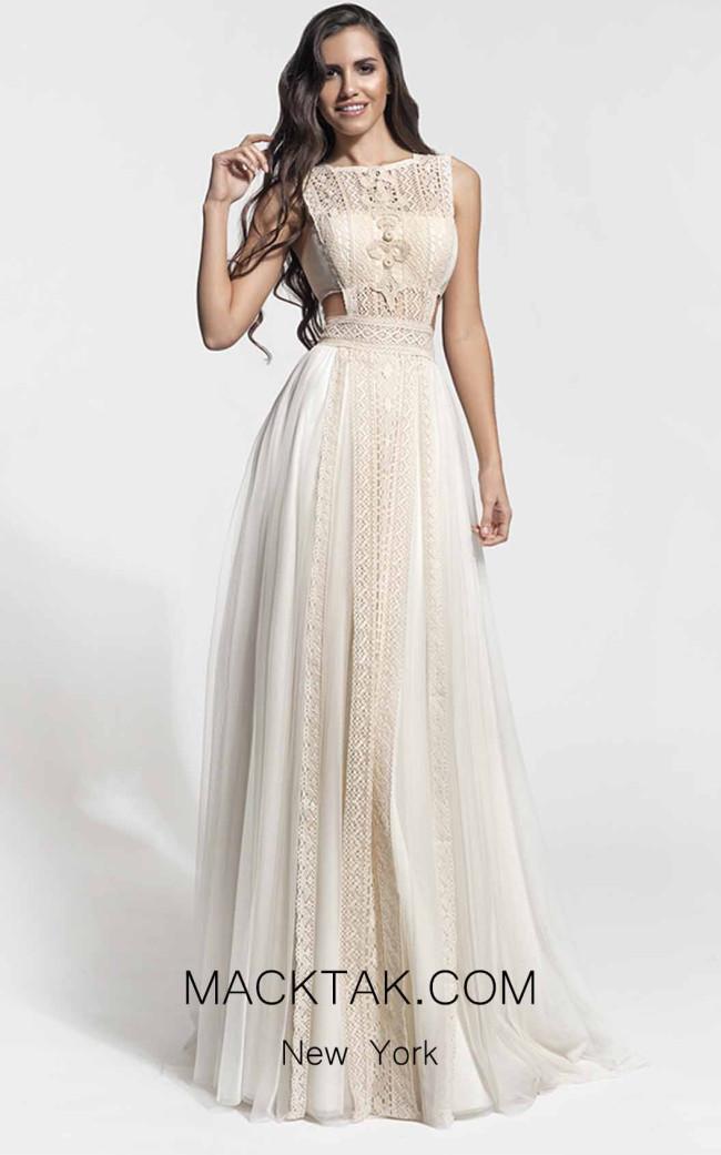 Zolotas Atelier Phillys Front Evening Dress