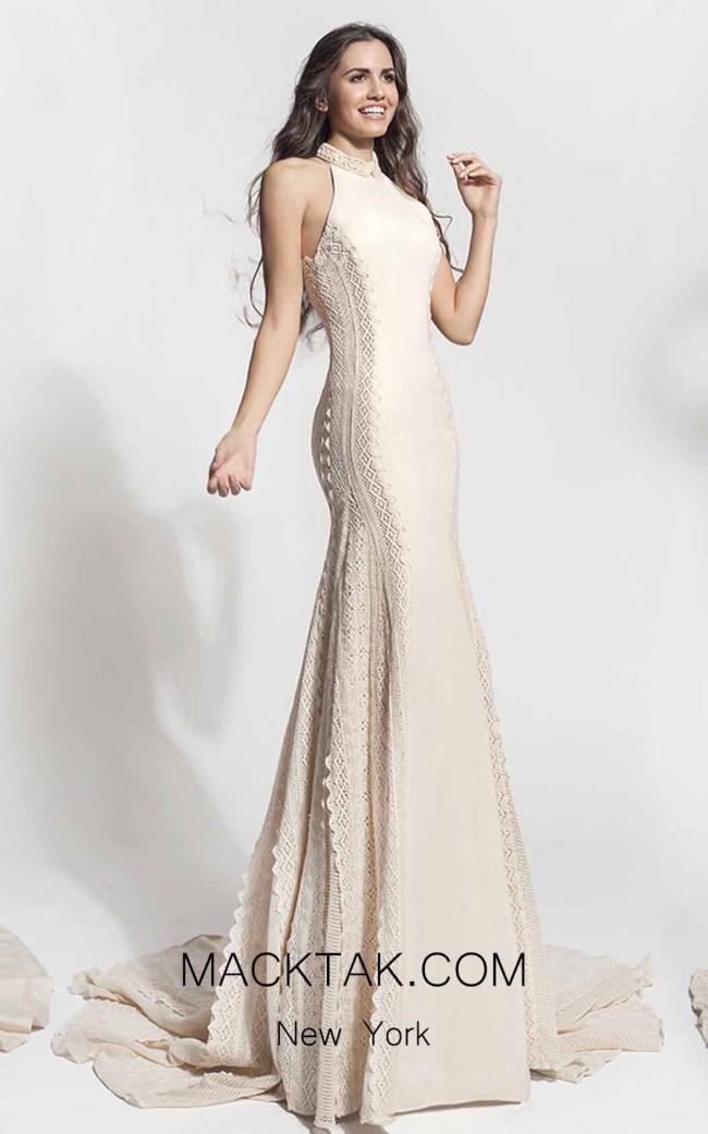 Zolotas Atelier Phoebe Front Evening Dress