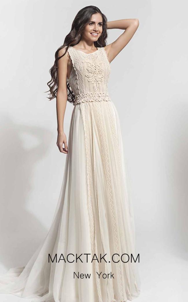 Zolotas Atelier Rhea Front Evening Dress