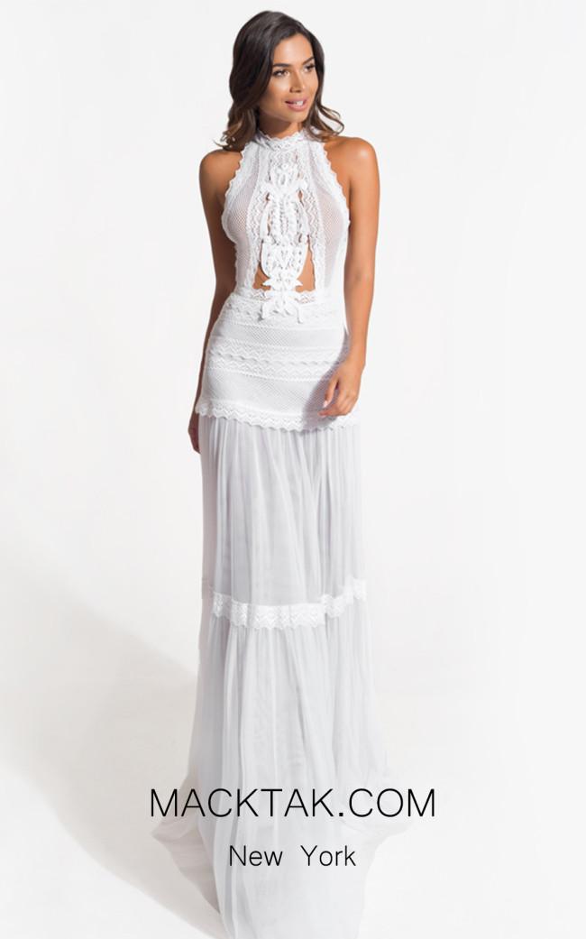 Zolotas Atelier Calla Front Evening Dress