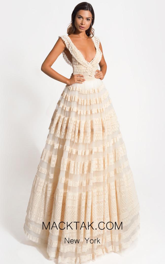 Zolotas Atelier Celesta Front Evening Dress