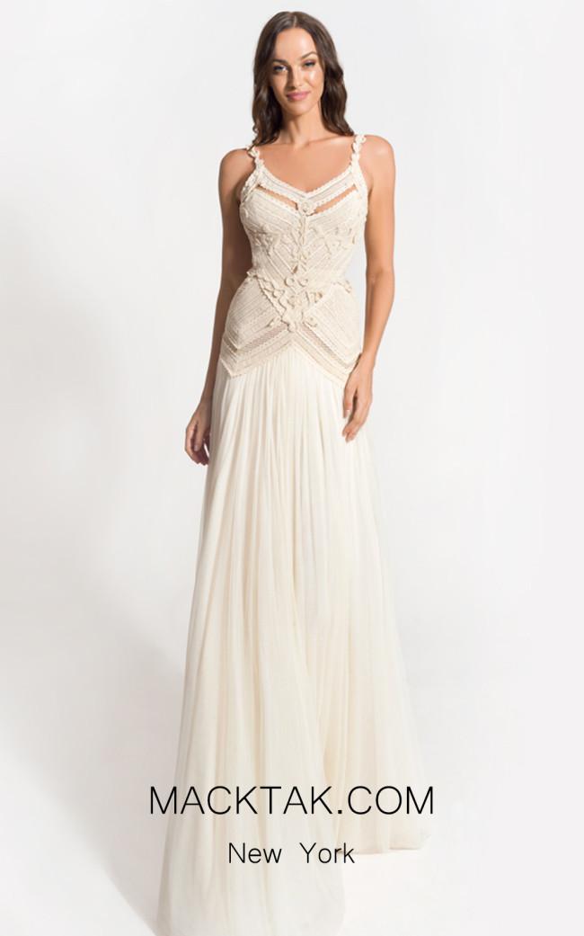 Zolotas Atelier Echo Front Evening Dress