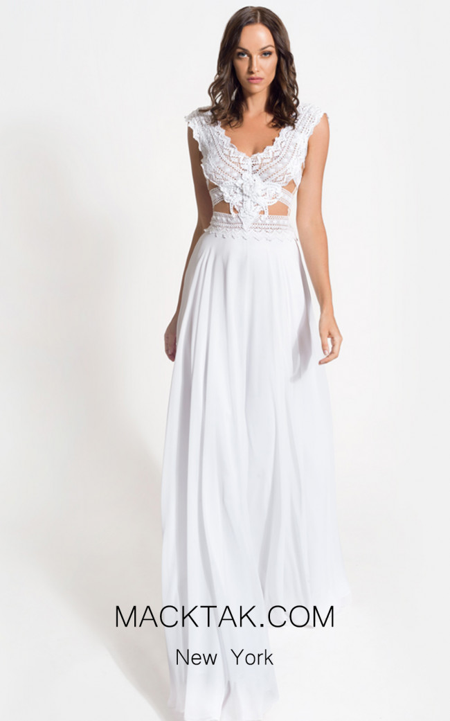 Zolotas Atelier Essence Front Evening Dress