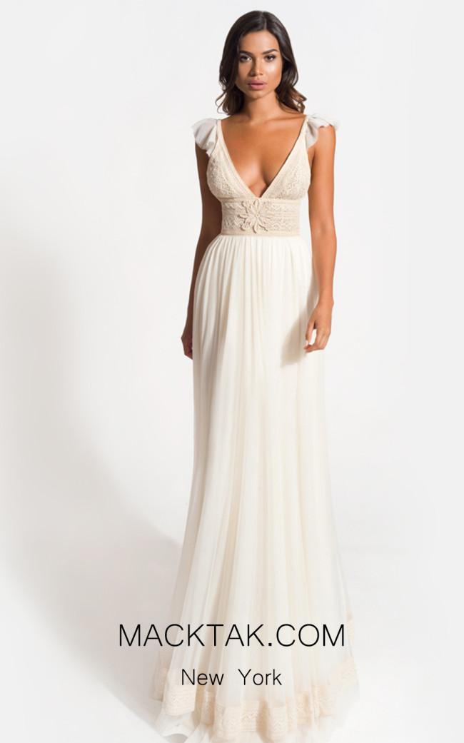 Zolotas Atelier Eva Front Evening Dress