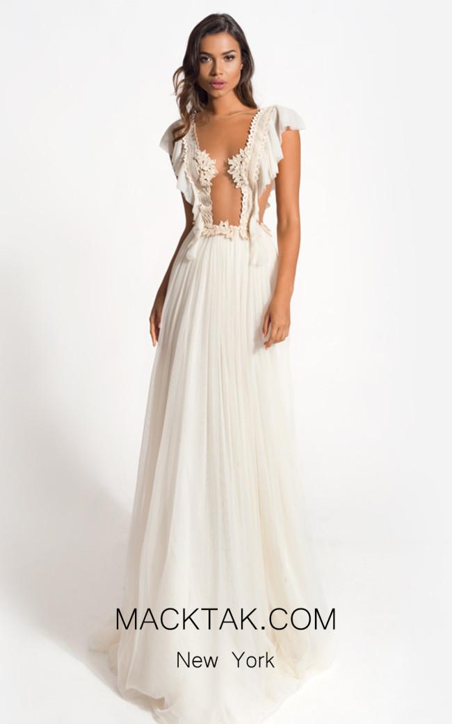 Zolotas Atelier Syrene Front Evening Dress