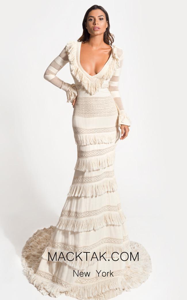 Zolotas Atelier Vayia Front Evening Dress