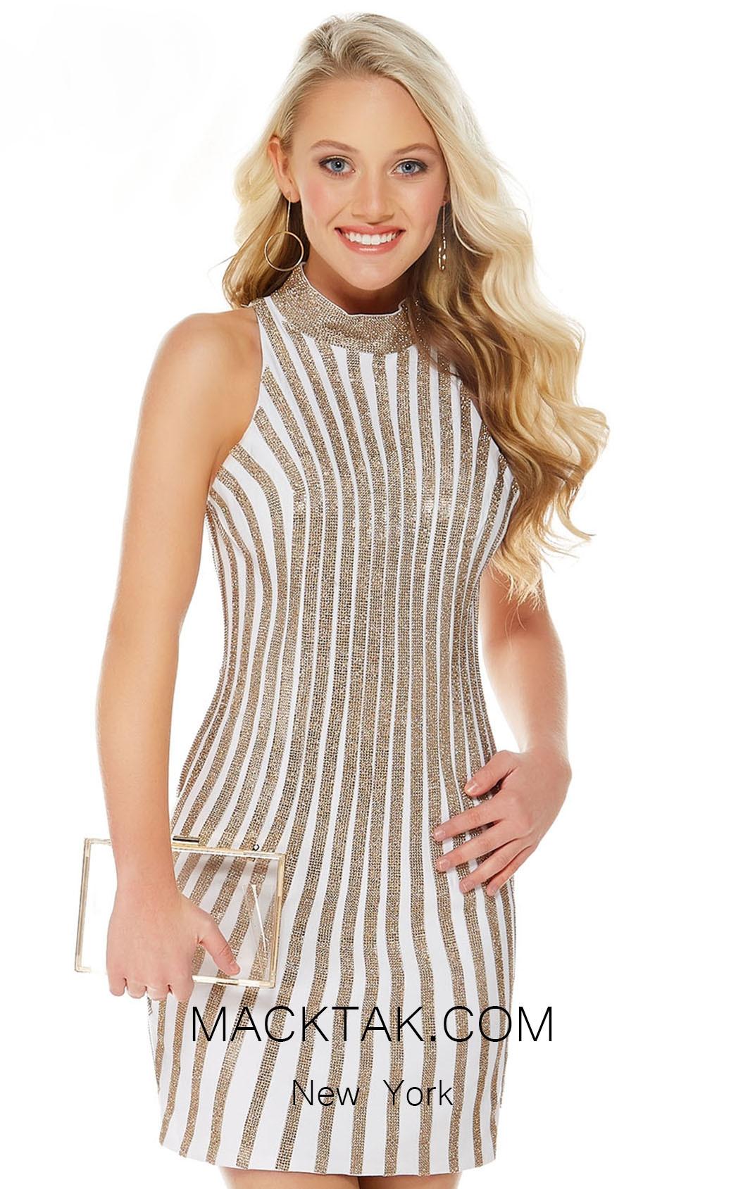 Alyce 1339 Diamond White Gold Front  Evening Dress