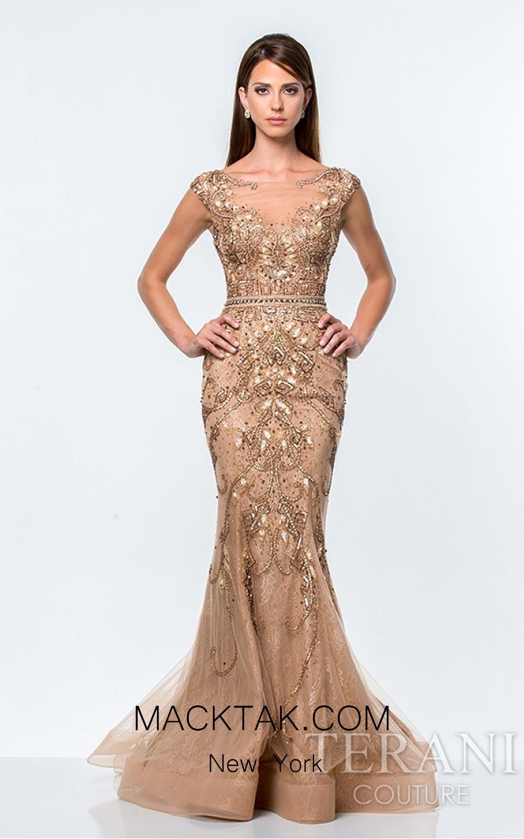 Terani 151GL0425 Mocha Dress