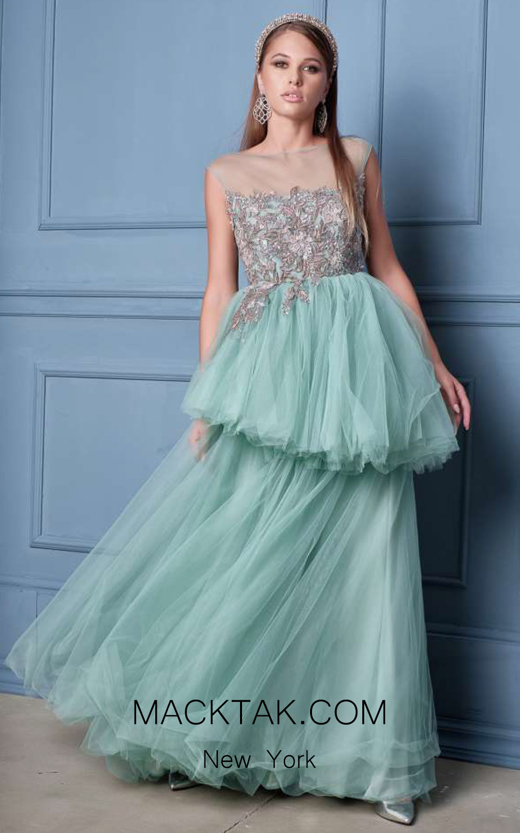 Alda Ciceu NRP SS20-06 Mint Front Dress