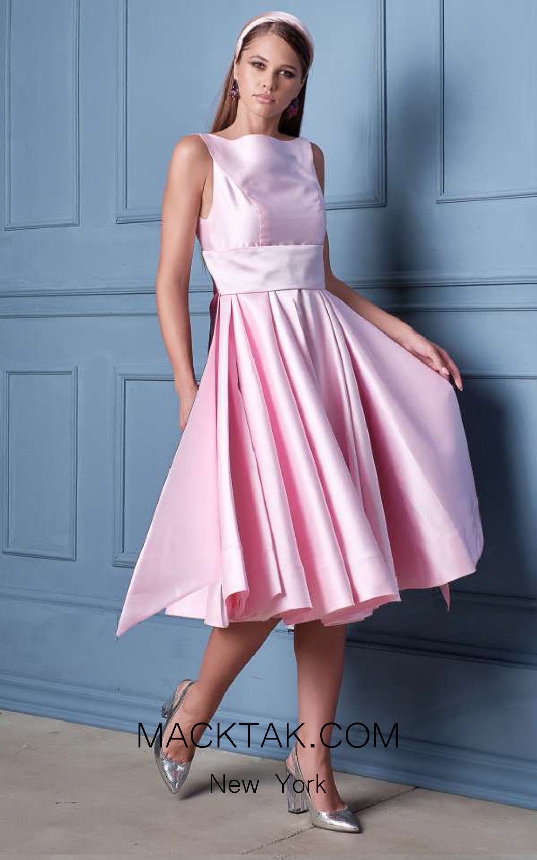 Alda Ciceu NRP SS20-19 Pink Wine Front Dress