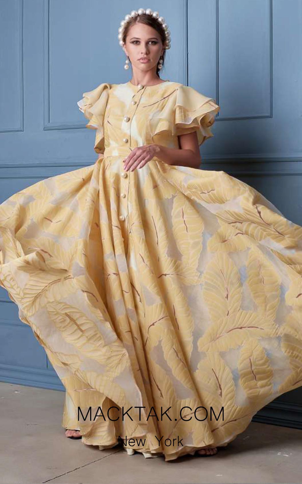 Alda Ciceu NRP SS20-35 Yellow Front Dress