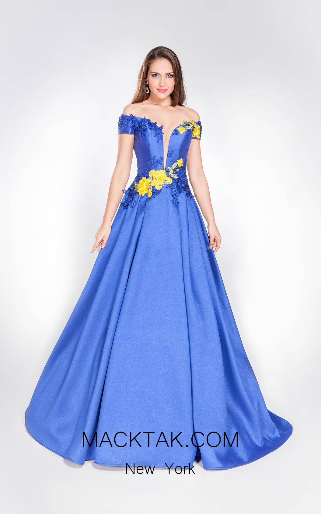 Alma Couture AC1056 Front Evening Dress