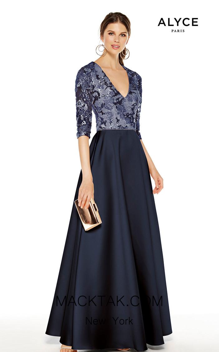 Alyce Paris 27388 Navy Front Dress