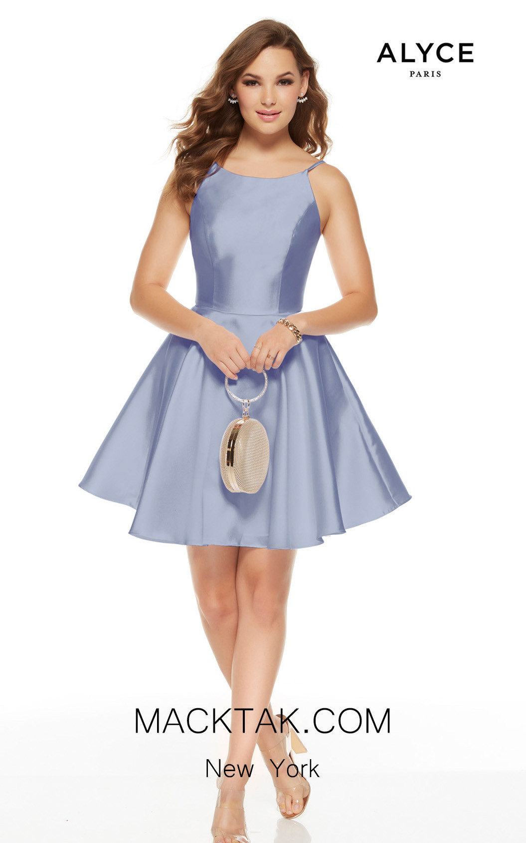 Alyce Paris 3925 French Blue Front Dress