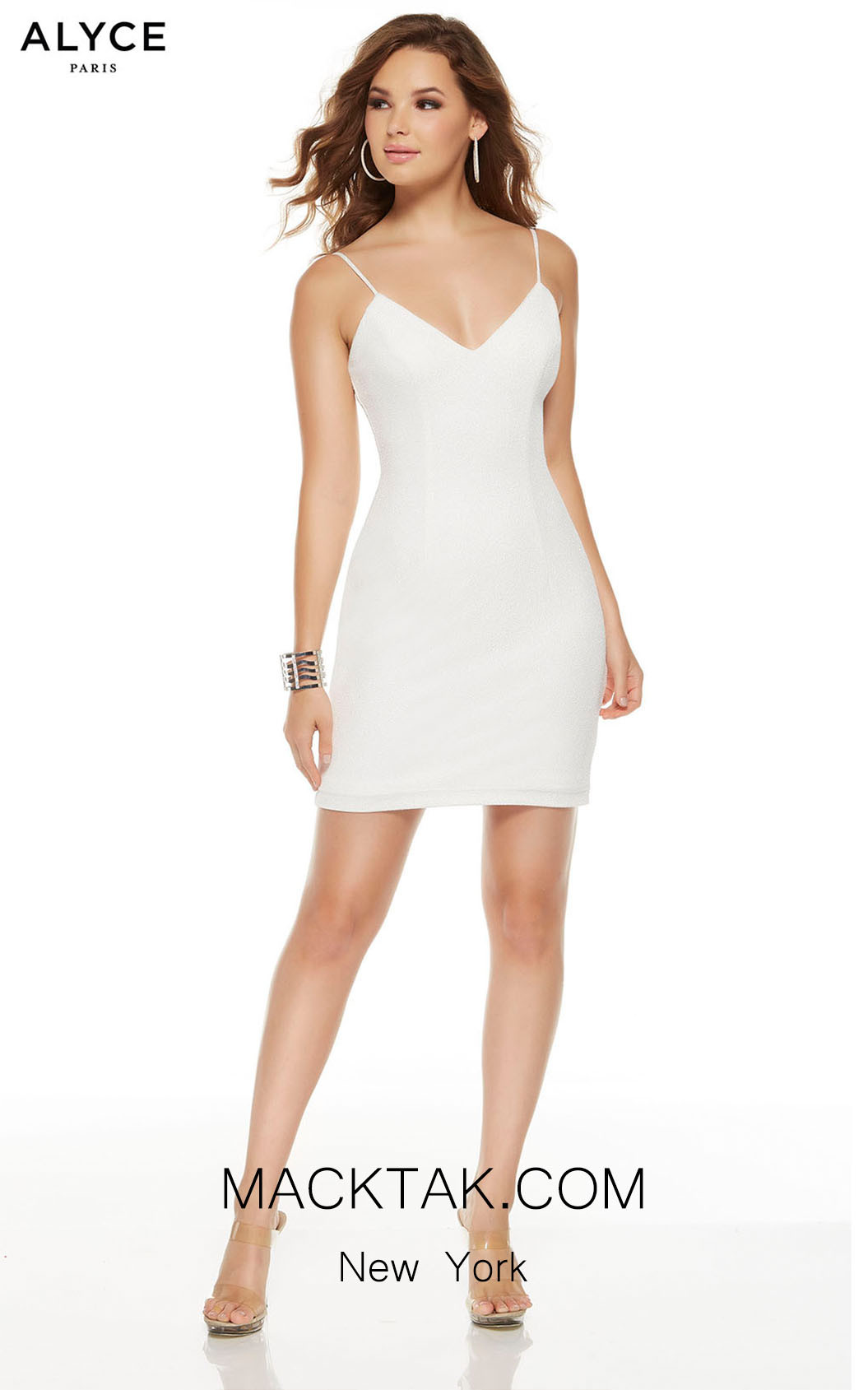 Alyce Paris 4224 Diamond White Front Dress