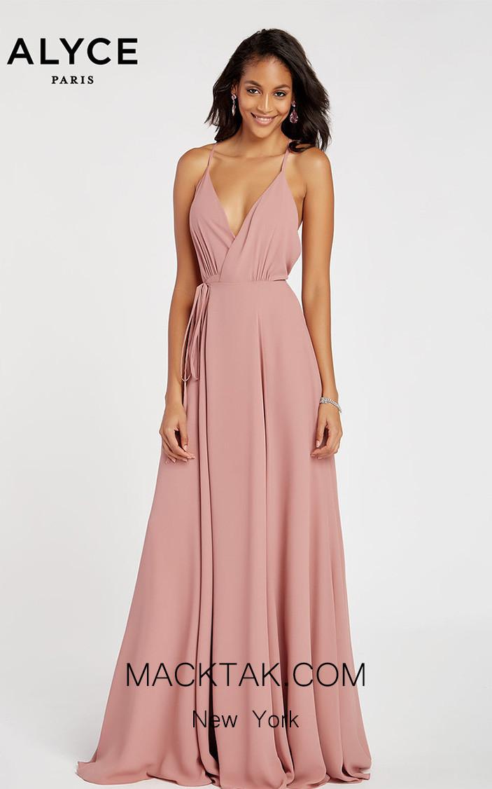 Alyce Paris 60456 Antique Rose Front Dress
