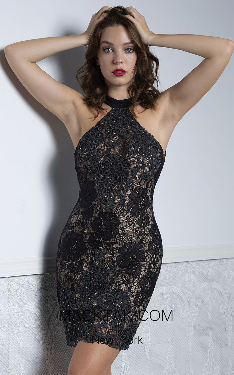 Baccio Briani Black Front Dress