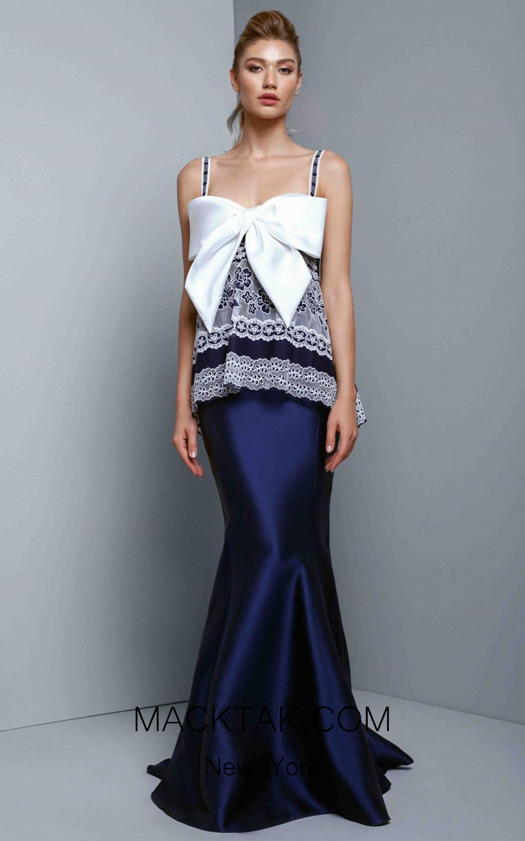 Beside Couture 1345 Navy Front Dress