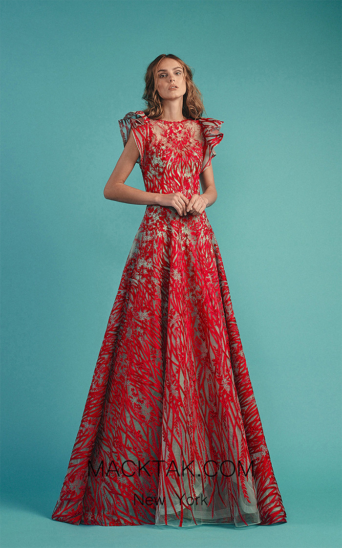 Beside Couture by Gemy Maalouf BC1511 Fuchsia Front Dress