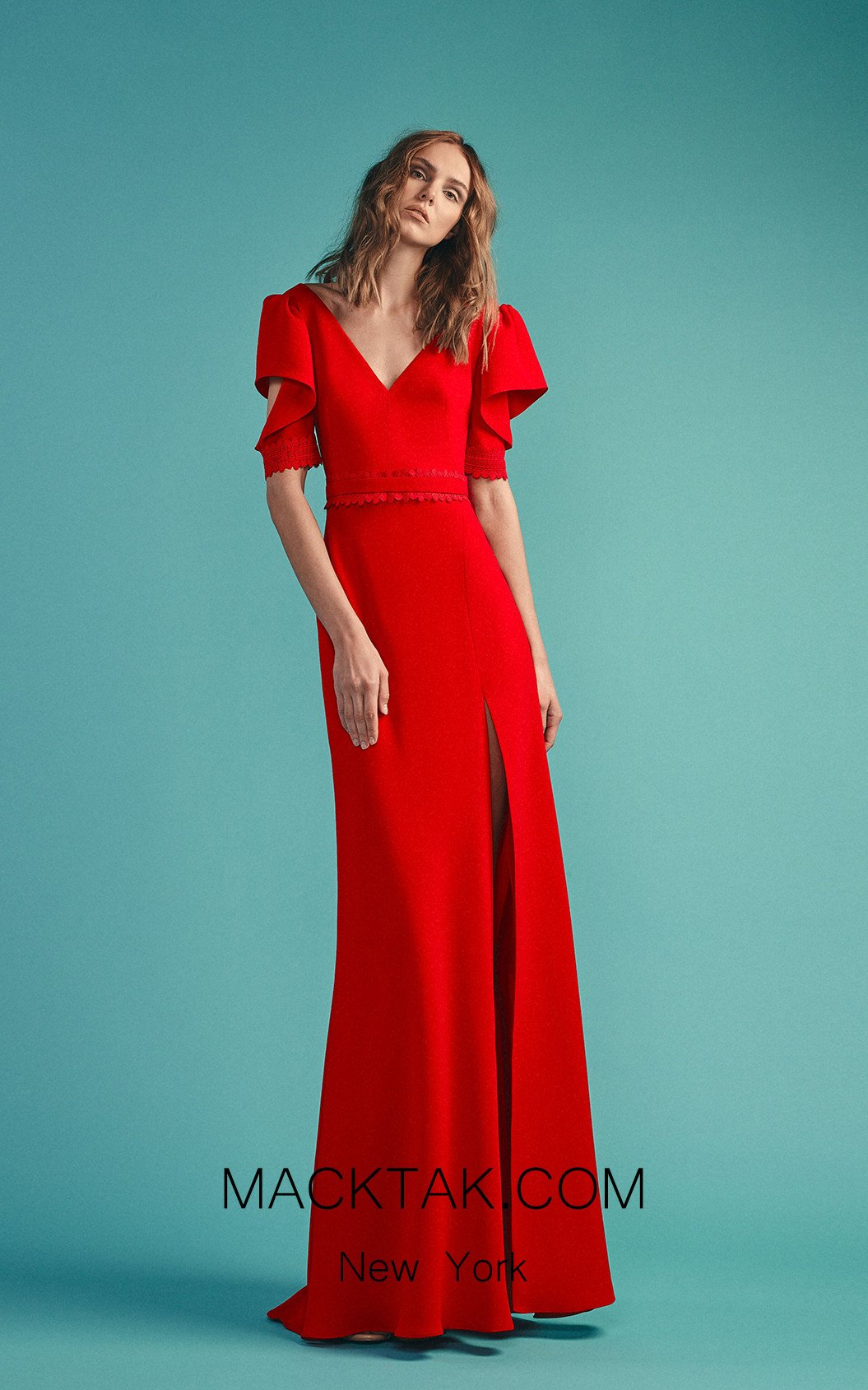 Beside Couture by Gemy Maalouf BC1501 Red Front Dress