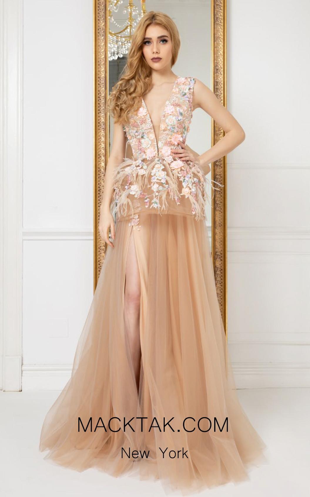 Cristallini SKA977 Front Evening Dress