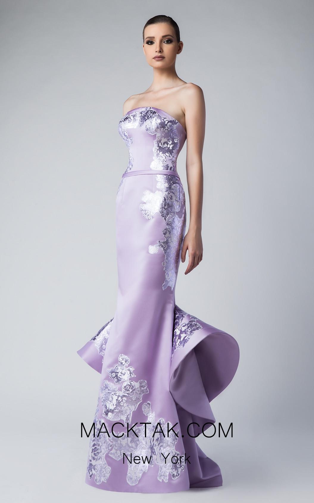 Edward Arsouni FW0256 Mauve Front Dress