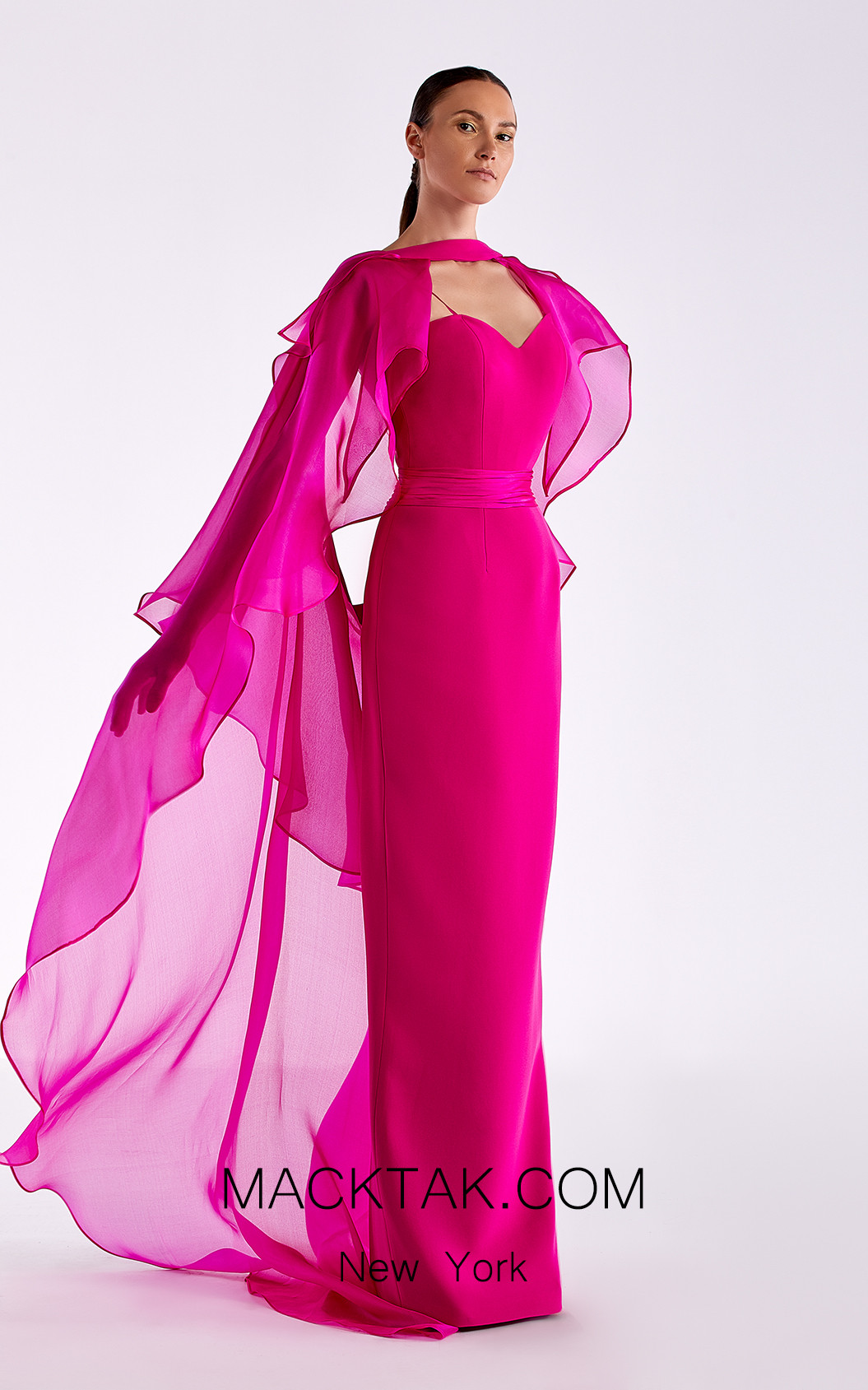Edward Arsouni SS0510 Fuchsia Front Dress