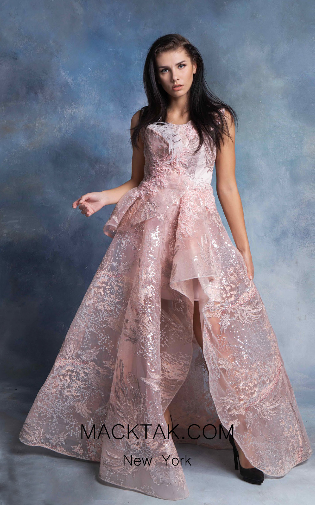 In Couture By Kiwi 4748 Pink Front Dress