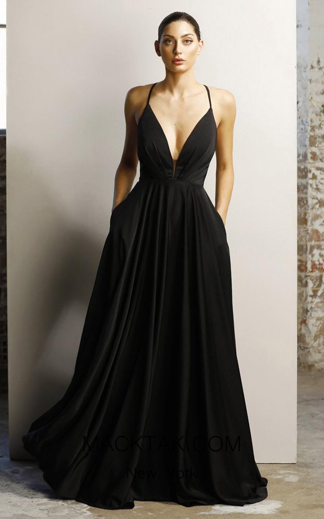 Jadore JX1064 Black Front Dress