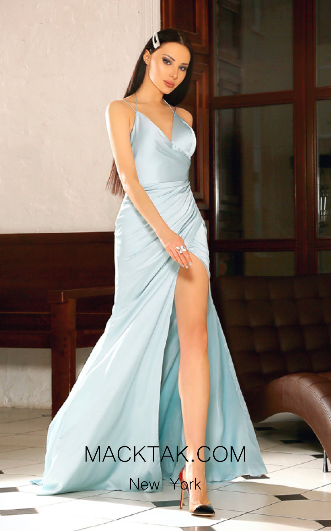Jadore Australia JP104 Powder Blue Front Dress