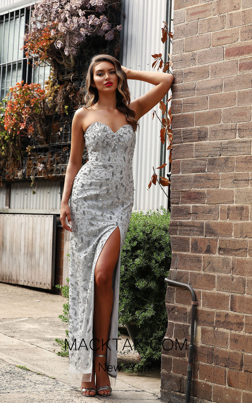 Jadore JX3006 Silver Front Dress