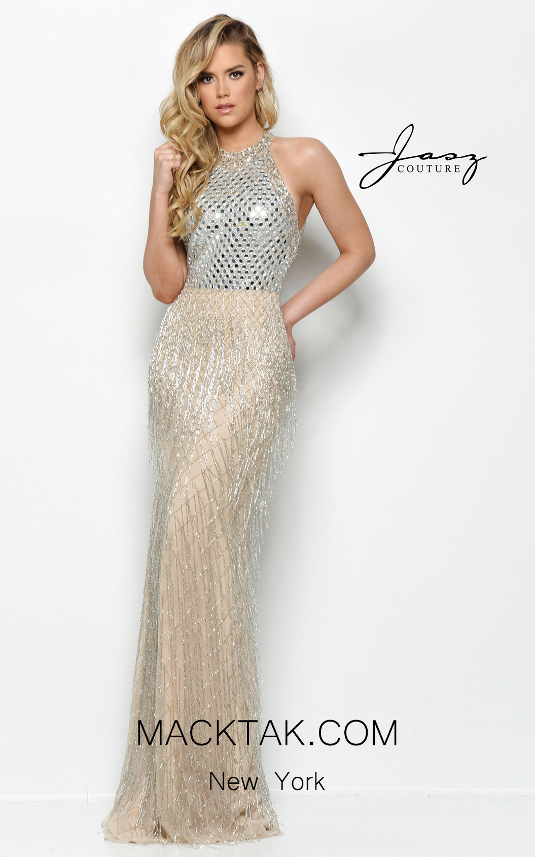 Jasz Couture 7004 Nude Front Dress