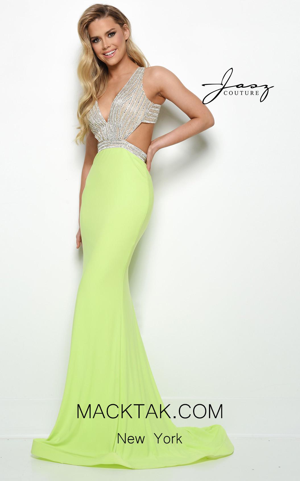 Jasz Couture 7032 Lime Front Dress