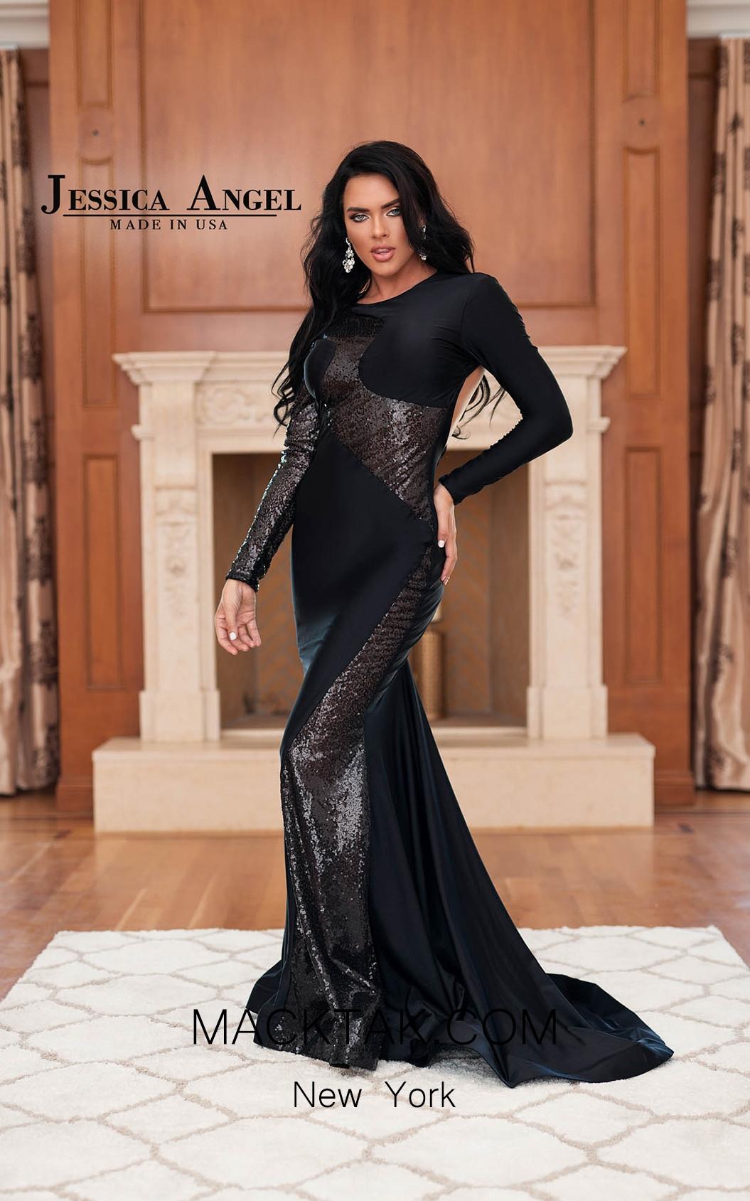 Jessica Angel 317 Black Front Dress