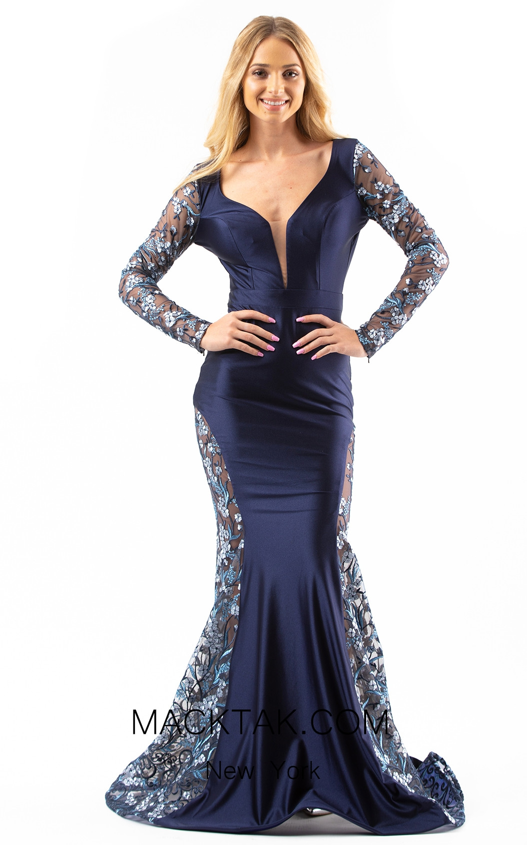 Jessica Angel 539 Navy Front Dress