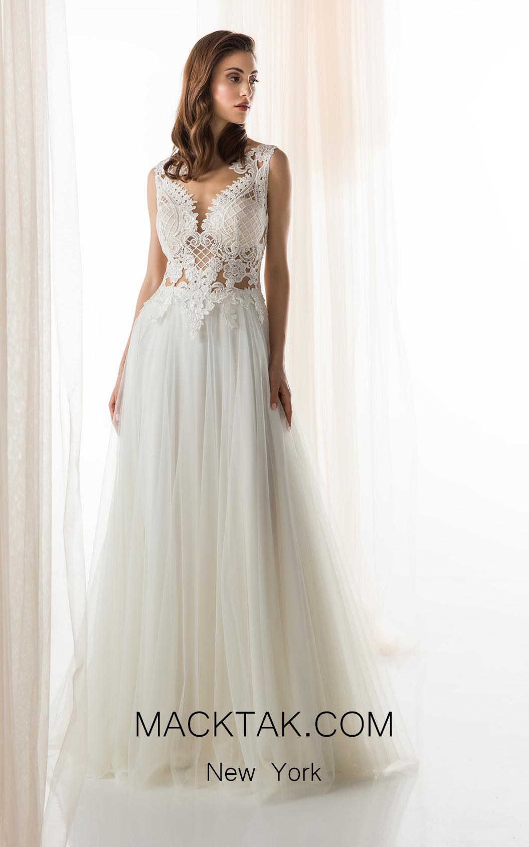 Jiouli Ferousa 650 Ivory Front Wedding Dress