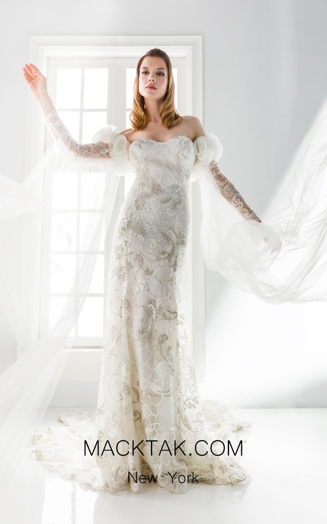 Jiouli Kastalia 773 Ivory Front Wedding Dress