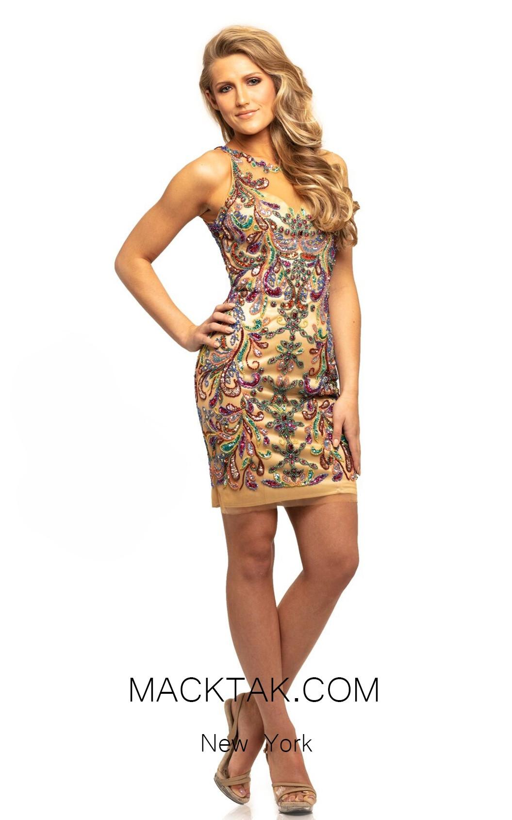 Johnathan Kayne 9224 Nude Multi Front Dress
