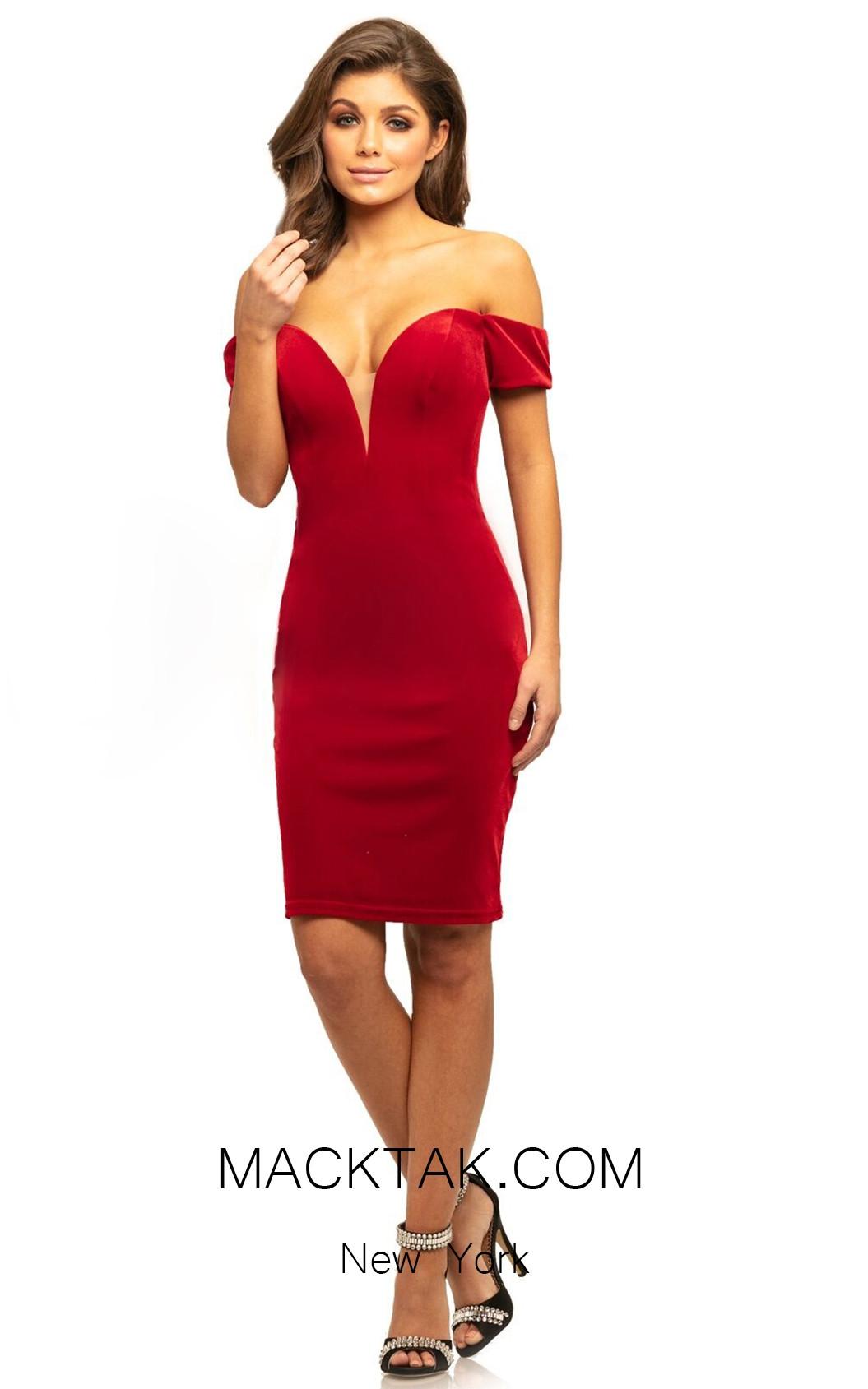 Johnathan Kayne 9226 Red Front Dress