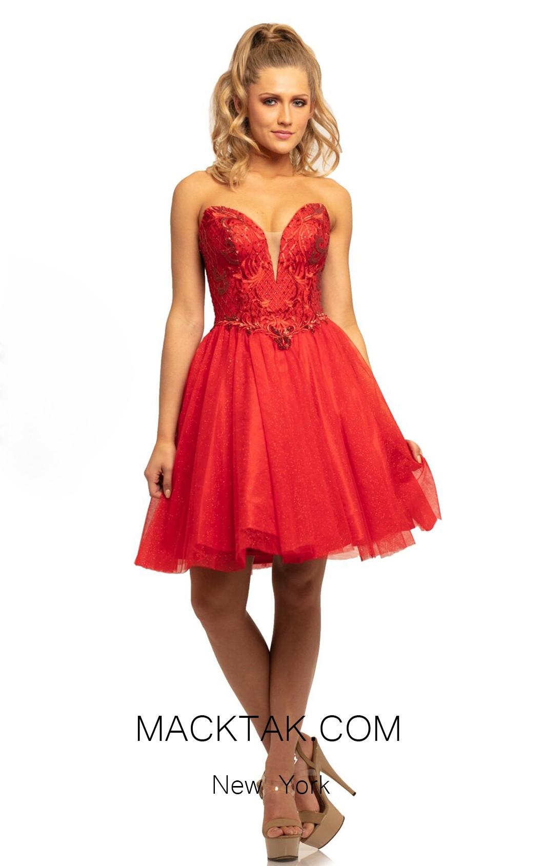 Johnathan Kayne 9232 Red Front Dress