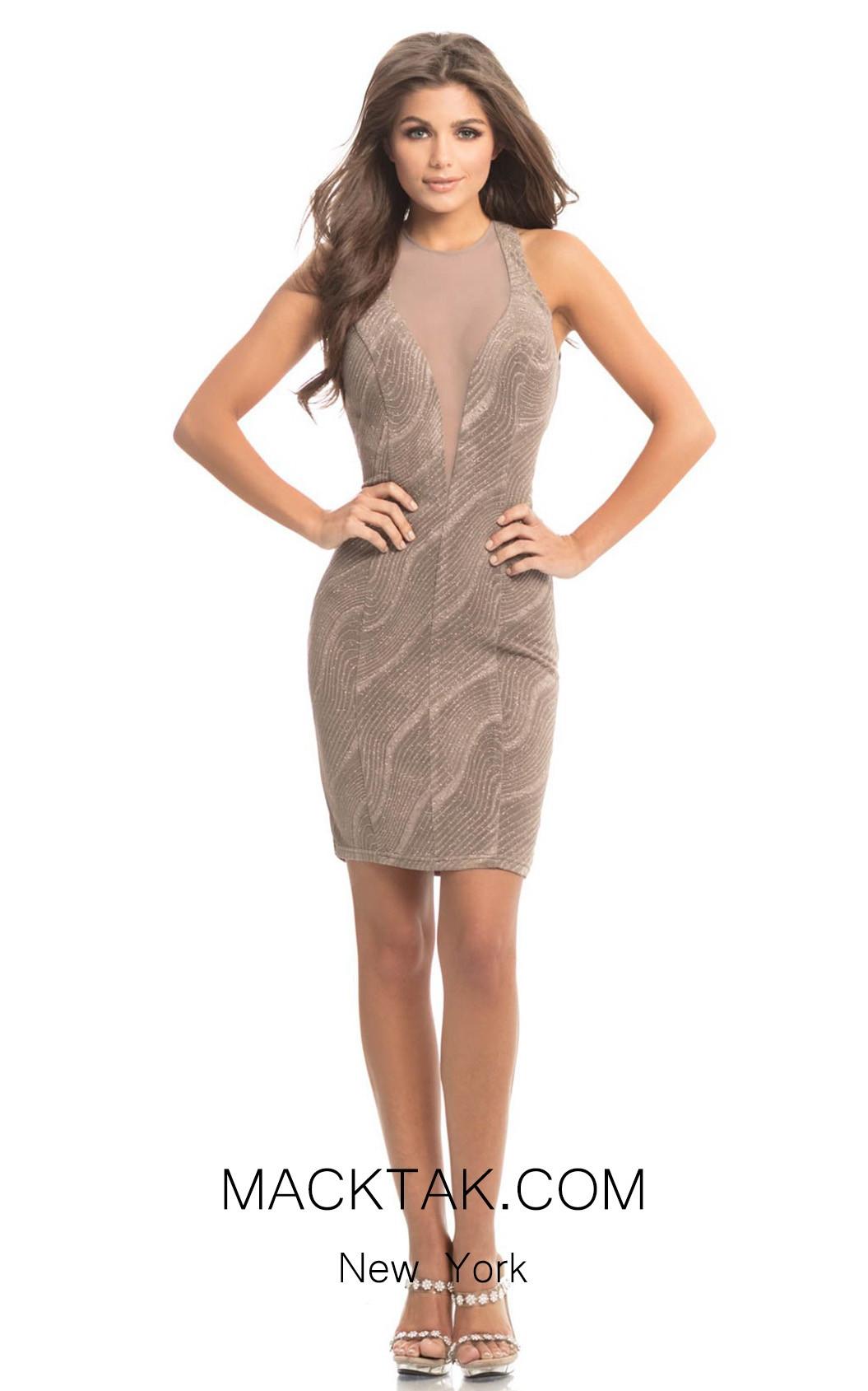 Johnathan Kayne 8213 Taupe Front Dress