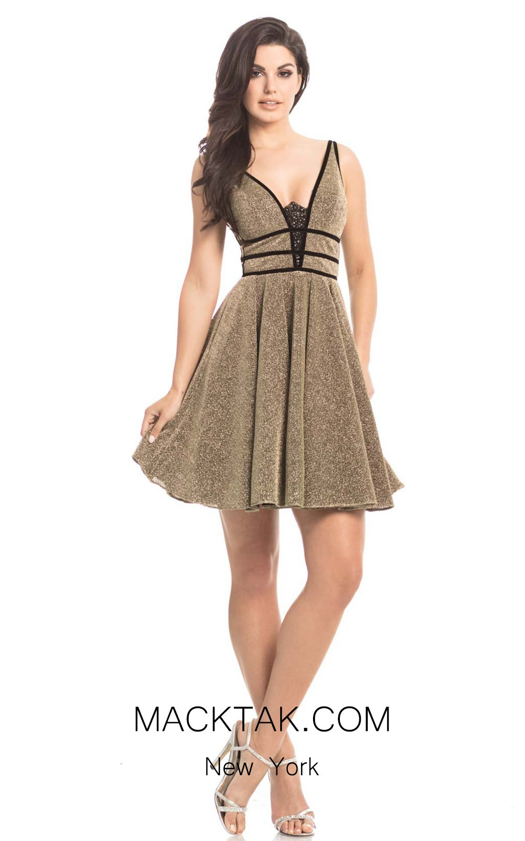 Johnathan Kayne 8223 Gold Front Dress