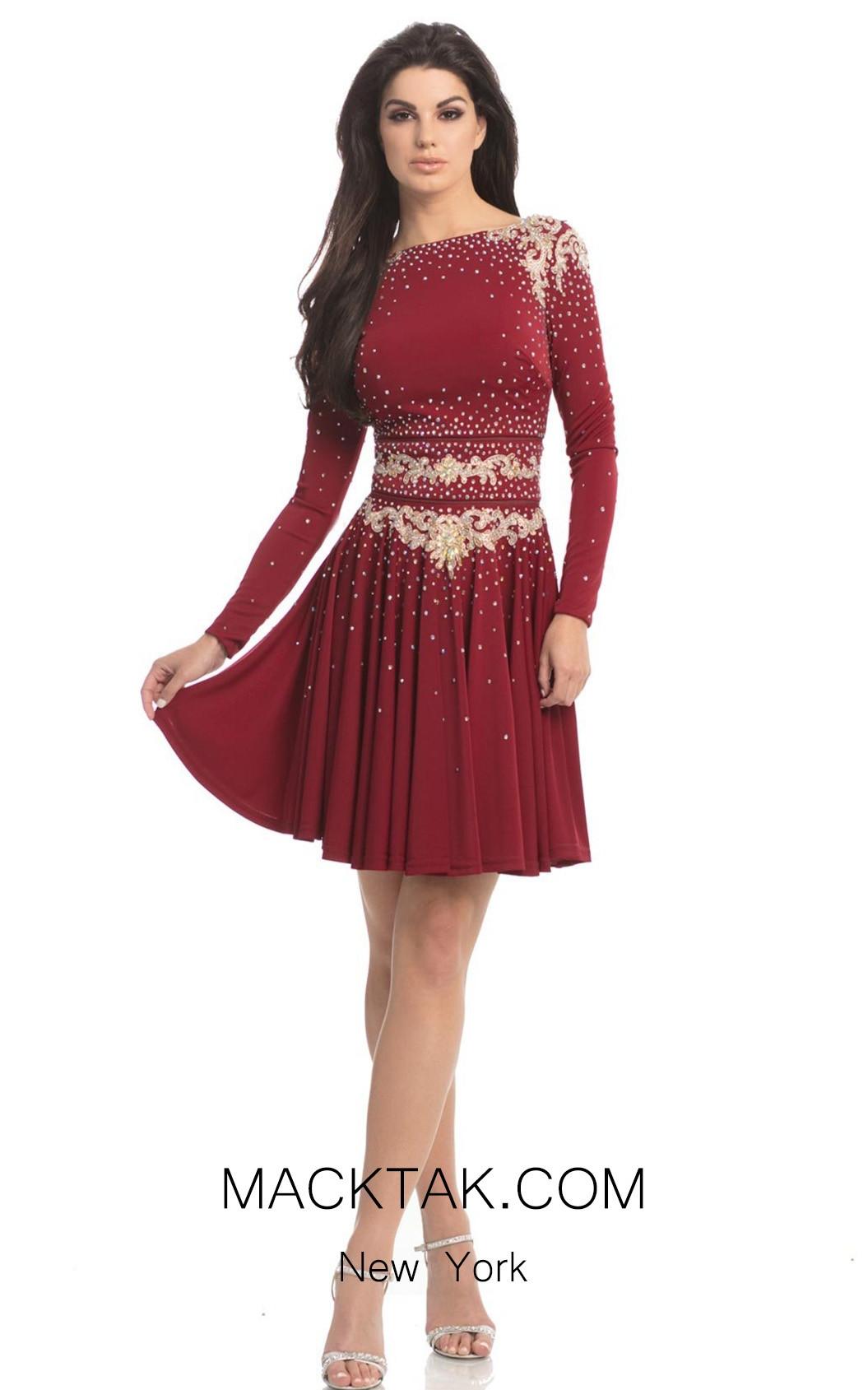 Johnathan Kayne 8240 Crismon Gold Front Dress