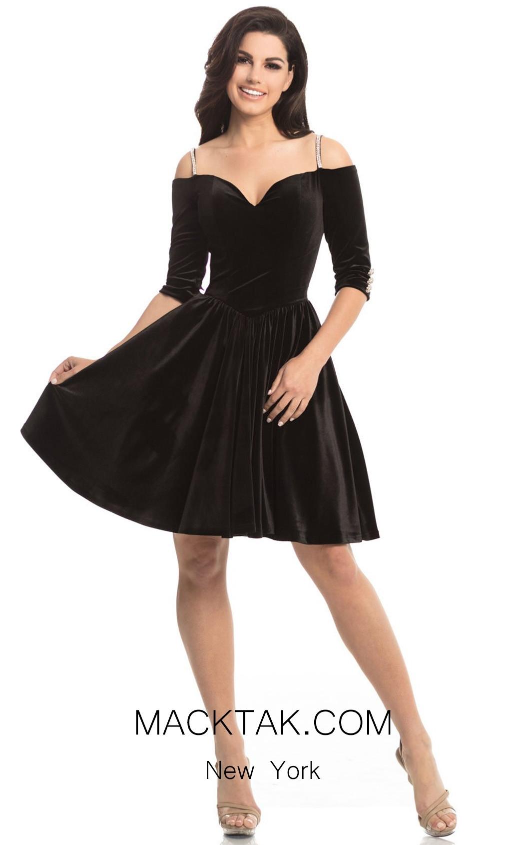 Johnathan Kayne 8248 Black Front Dress