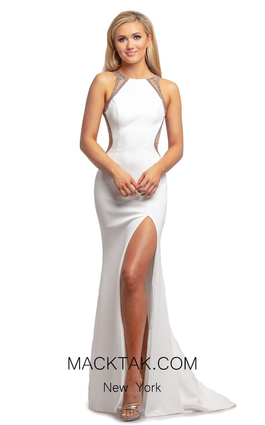 Johnathan Kayne 2023 White Front Dress
