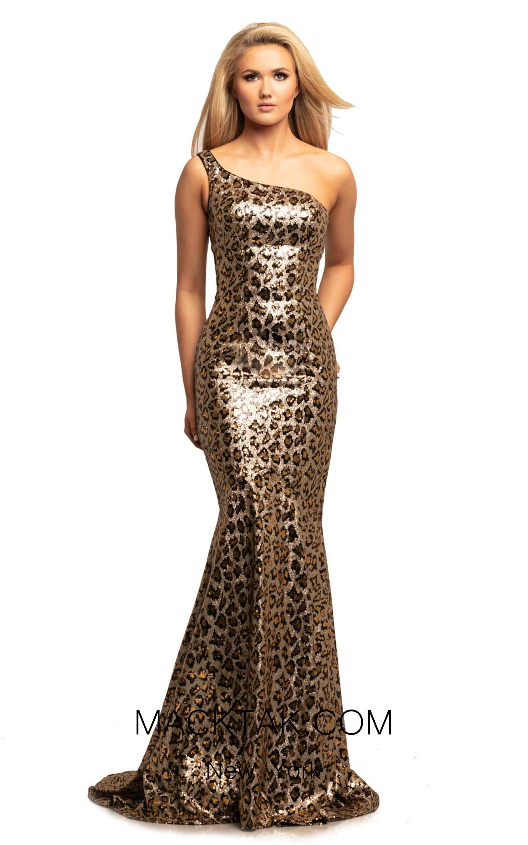 Johnathan Kayne 2028 Leopard Front Dress